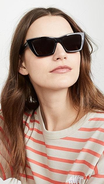 6df855975f28 Saint Laurent Narrow Cat Eye Sunglasses | SHOPBOP