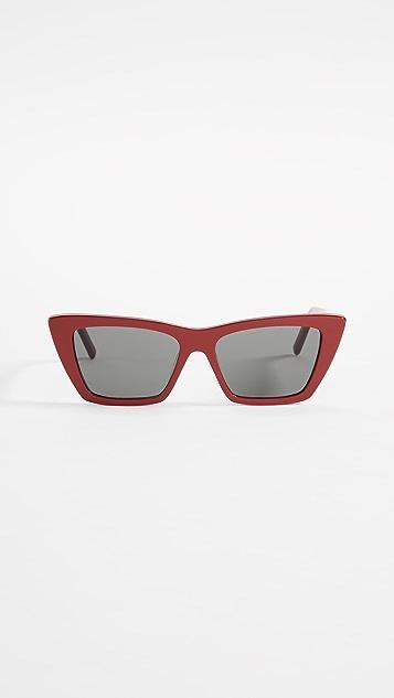 Saint Laurent 窄款猫眼太阳镜