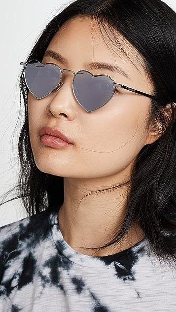 Saint Laurent Металлические солнцезащитные очки Lou Lou