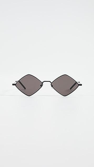 Saint Laurent Металлические солнцезащитные очки «кошачий глаз» Lisa