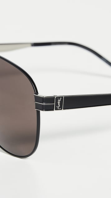 Saint Laurent Pilot Aviator Sunglasses