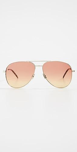 Saint Laurent - Classic 11 Aviator Sunglasses
