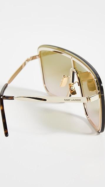 Saint Laurent 眼罩式太阳镜