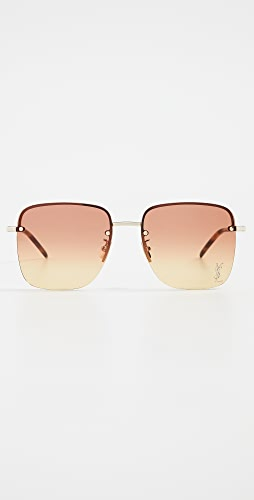 Saint Laurent - SL 312 Square Metal Sunglasses