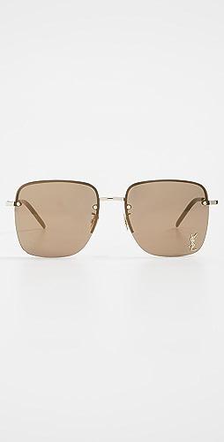 Saint Laurent - Square Metal Sunglasses