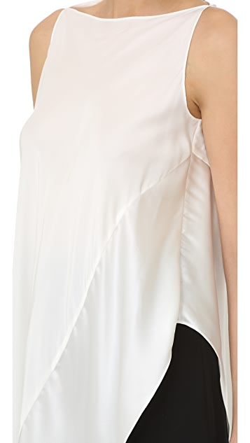 Zac Posen Sleeveless Asymmetrical Top