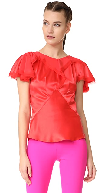 Zac Posen Short Sleeve Blouse