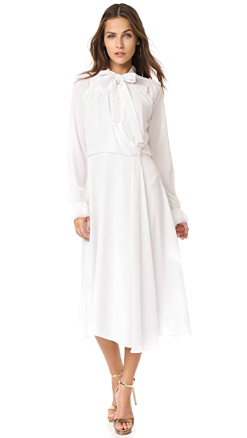 Zac Posen Crepe Embroidery Dress
