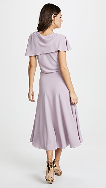 Zac Posen Ruffle Sleeve Dress