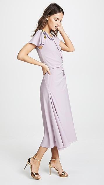 Zac Posen Ruffle Sleeve Dress