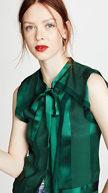 Zac Posen Satin Blouse