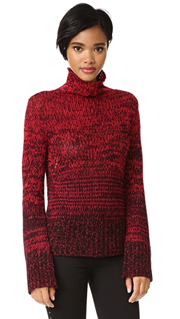 Zadig & Voltaire Ombre Turtleneck Cashmere Sweater