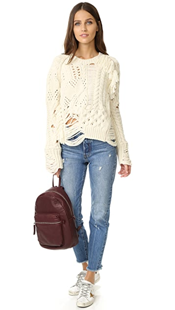 Zadig & Voltaire Kary Oversized Destroyed Sweater