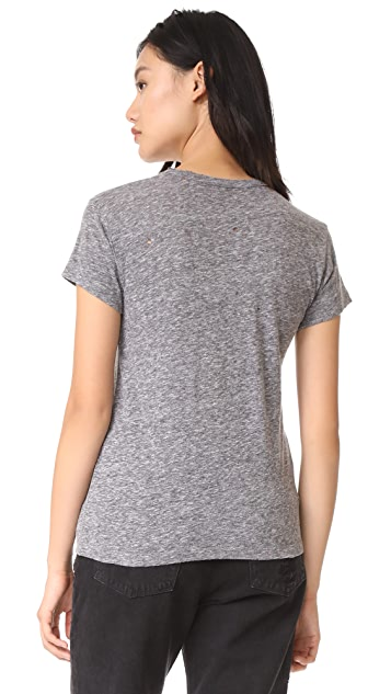 Zadig & Voltaire Amour Distressed Tee