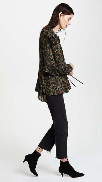 Zadig & Voltaire Terra Leopard Blouse