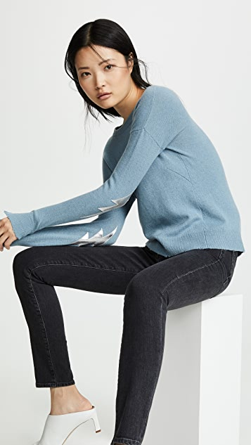 Zadig & Voltaire Bolt Patch Cashmere Sweater