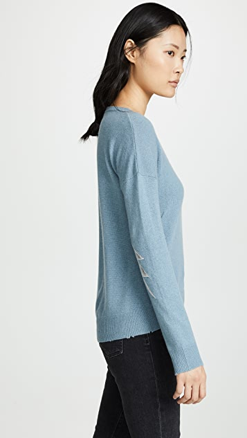 Topmoderne Zadig & Voltaire Bolt Patch Cashmere Sweater | SHOPBOP VS-92