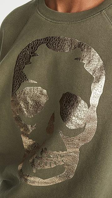 Zadig & Voltaire Upper 骷髅头金色运动衫