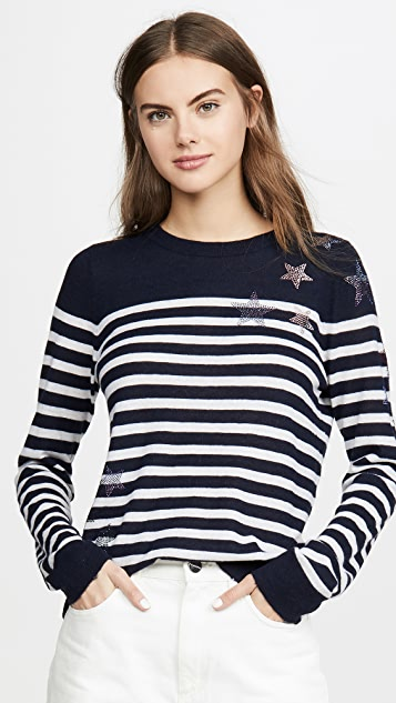 Zadig & Voltaire Miss CP Stripes Cashmere Sweater