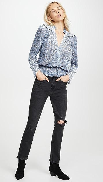Zadig & Voltaire Tori Velous De 女式衬衫