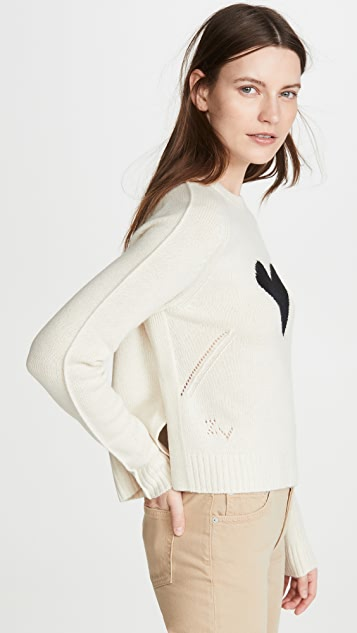 Zadig & Voltaire Lili C Heart Cashmere Sweater