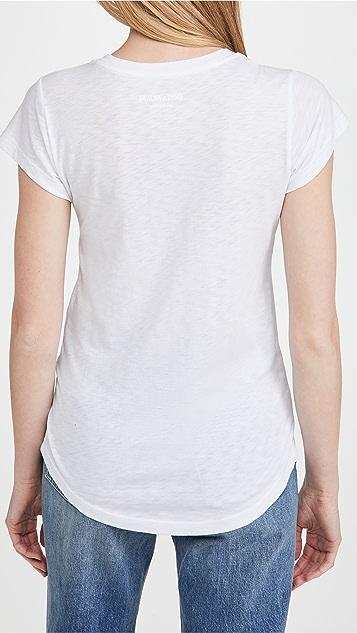 Zadig & Voltaire 紧身水钻骷髅头星星 T 恤