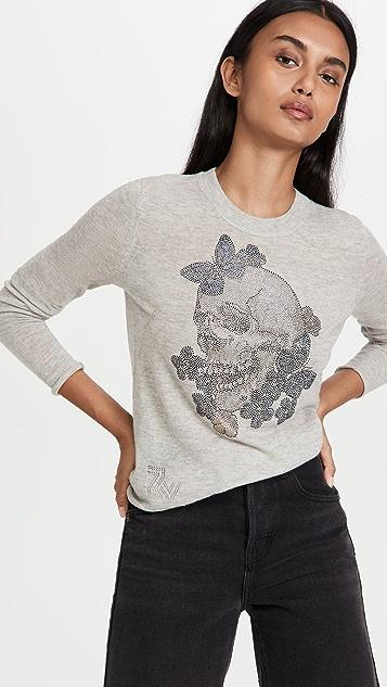Zadig & Voltaire Miss Skull Cashmere Sweater