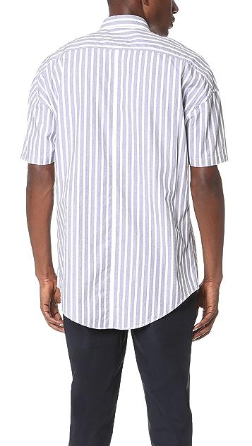 Zanerobe Stripe Rugger Short Sleeve Shirt
