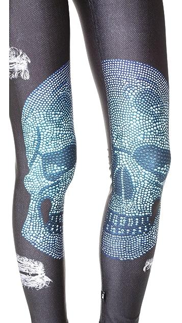Terez Crystal Skull 2.0 Performance Leggings