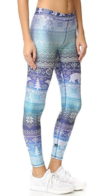 Terez Fair Isle Blue Hues Performance Leggings