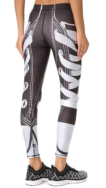 Terez Black Laces Out Performance Leggings