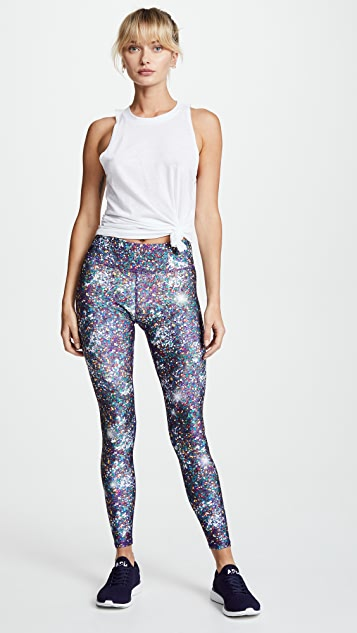 Terez Night Sparkle Tall Band Leggings