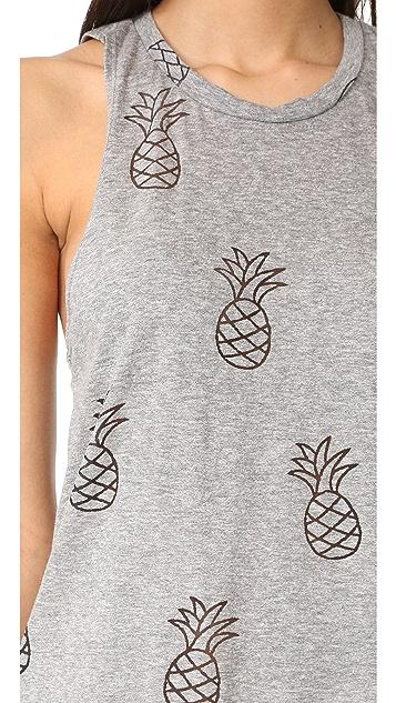 Terez Pineapple Burnout Muscle Tee