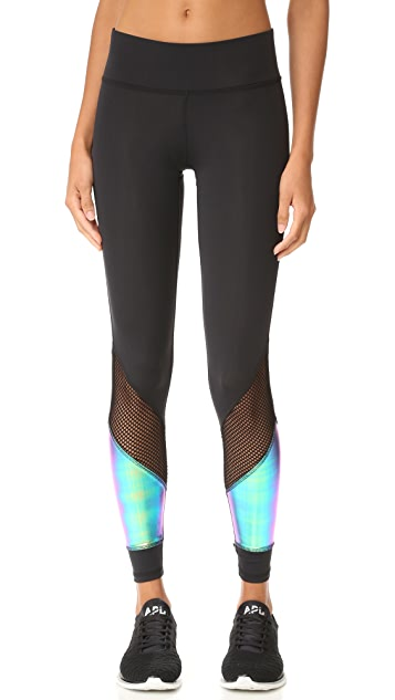 Terez Metallic Insert Leggings
