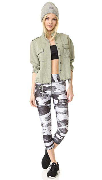 Terez Grey Camo Wide Band Leggings