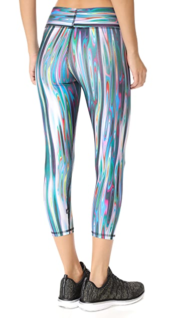 Terez Liquid Metal 2.0 Tall Band Capri Leggings