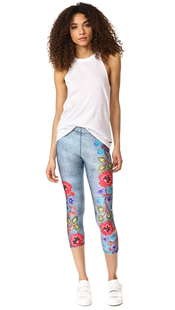 Terez Floral Capri Leggings