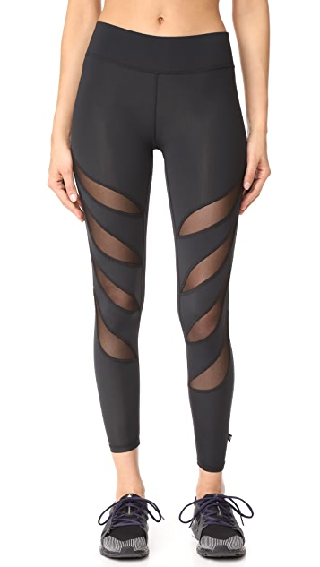 Terez Slash Mesh Ankle Leggings