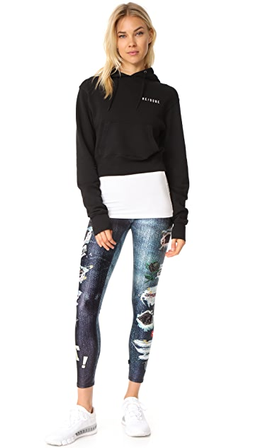 Terez Ripped Jeans Performance Leggings
