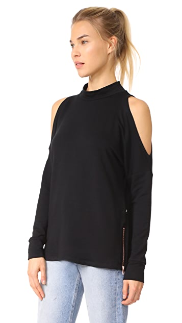 Terez Mock Turtleneck Top