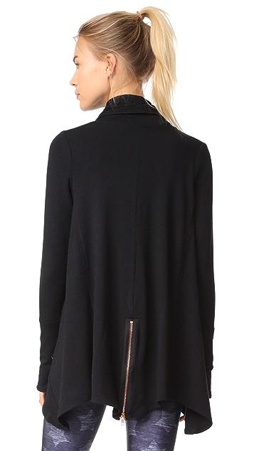 ... Terez Black Zip Drape Jacket ...