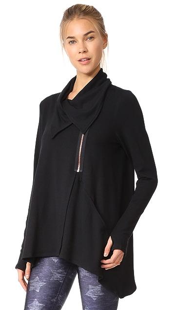Terez Black Zip Drape Jacket