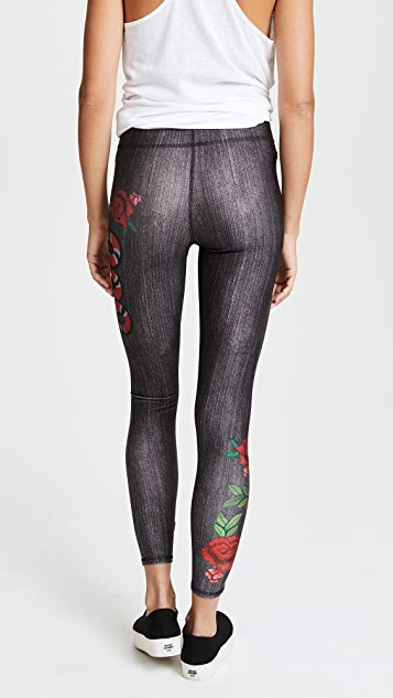 Terez Snake Charmer Performance Leggings