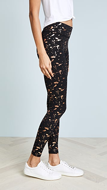 Terez Splatter Printed Tall Band Leggings