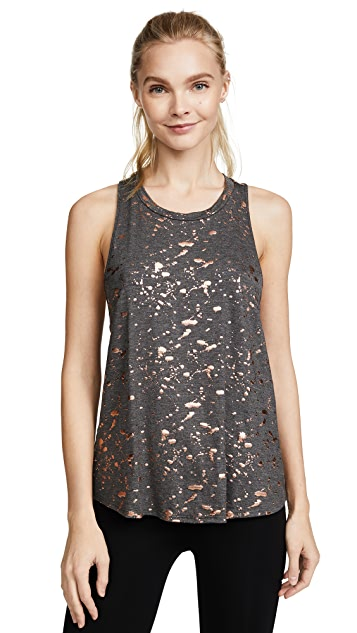 Terez Rose Gold Splatter Foil Printed Top
