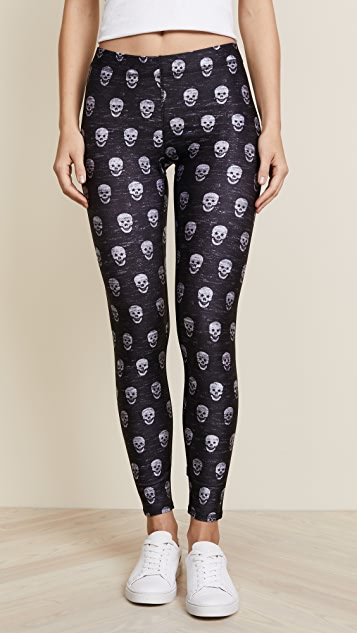 Terez Mini Heathered Skull Leggings