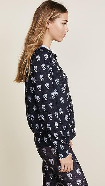 Terez Mini Heathered Skulls Hoodie