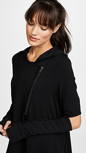 Terez Hoodie with Elbow Slashes