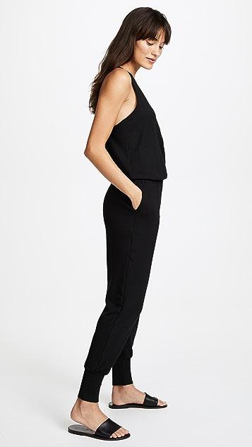 Terez Black Quarter Zip Jumpsuit