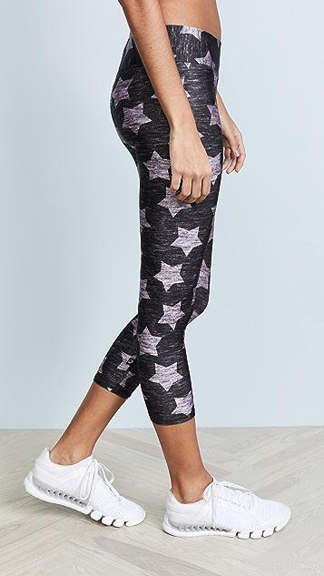 Terez Heathered Pink Stars Leggings